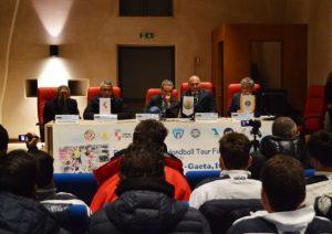Conferenza di assegnazione delle finali del Tour Europeo di Beach Handball alla città di Gaeta previste dal 26 al 28 Maggio 2017. A cura di APM