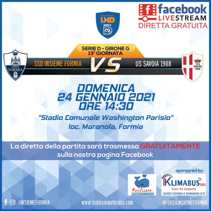 Serie D: Insieme Formia – Savoia, in diretta gratuitamente