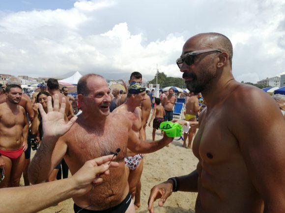 Swimming Paradise Gaeta: il video dell'arrivo di Mitrano