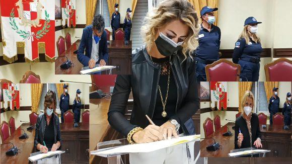 Protocollo d'intesa Comune – Dogana, la firma dei dirigenti